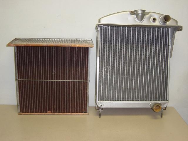 de originele aluminium radiateur en het nieuw koperen koelblok okjg001. Black Bedroom Furniture Sets. Home Design Ideas